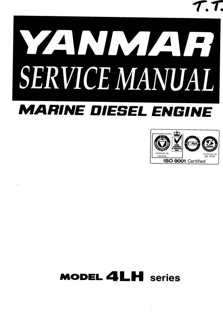 Yanmar 4LH-HTE Series Marine Diesel Engine Service Repair