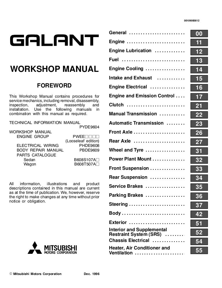 1998 mitsubishi galant service repair manual  slideshare