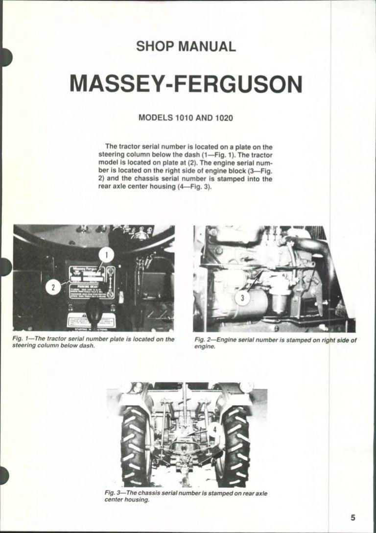 Massey Ferguson MF1020 Tractor Service Repair ManualSlideShare