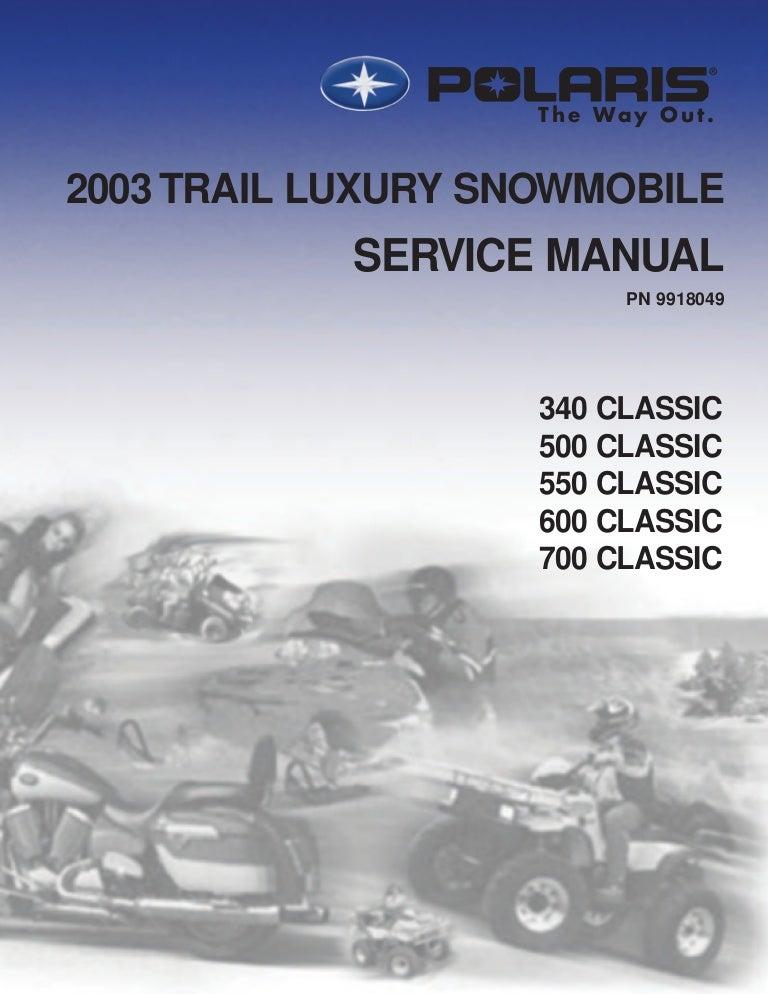 2003 polaris 340 classic edge snowmobile service repair manual Polaris 90 Wiring Diagram