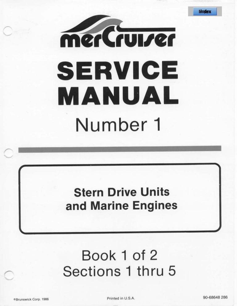 MERCURY MERCRUISER MC III STERN DRIVE UNITS AND MARINE