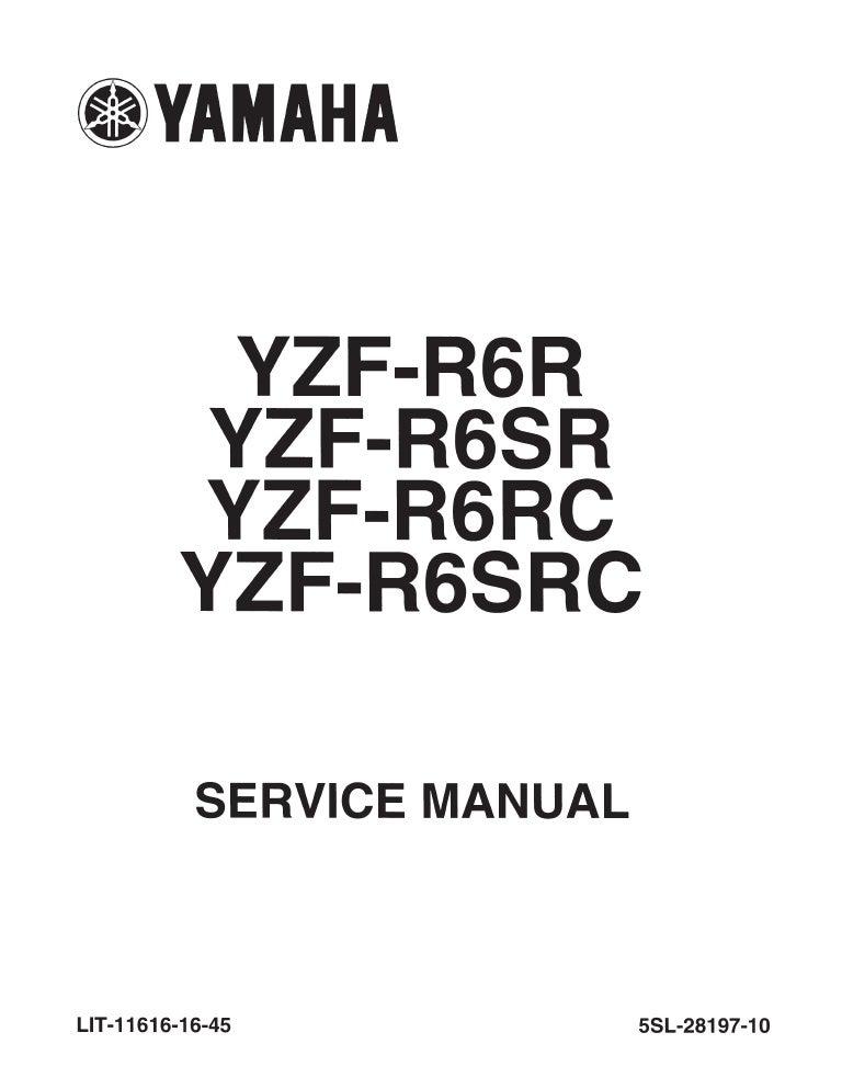 2004 Yamaha YZF-R6S Service Repair Manual