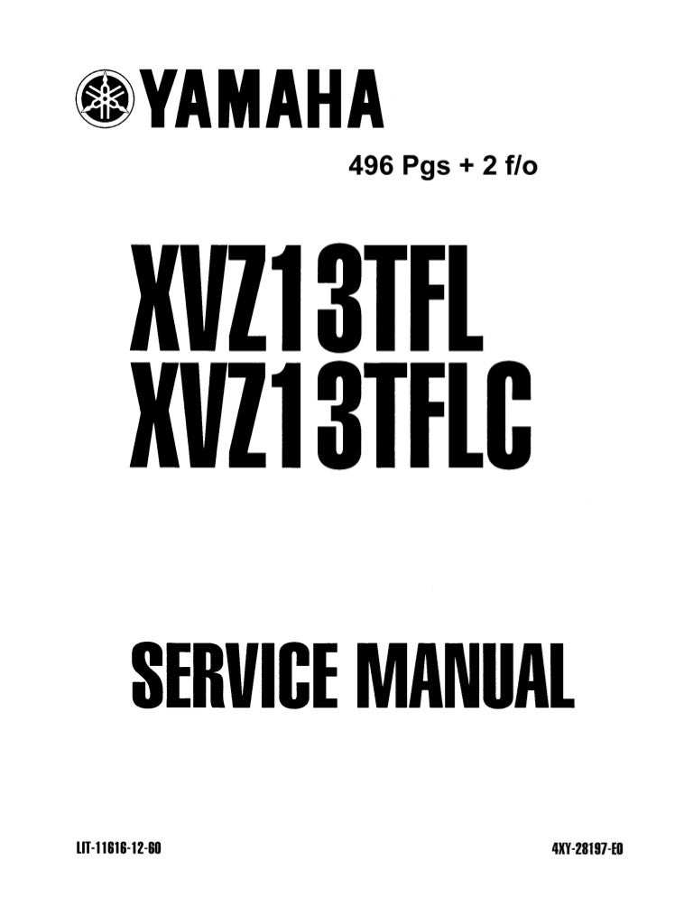 2005 Yamaha XVZ1300TFT Royal Star Venture Service Repair