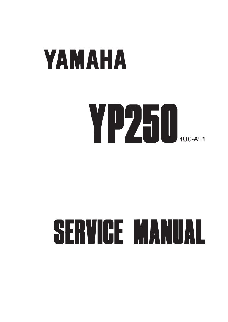 1999 Yamaha YP250 Service Repair Manual