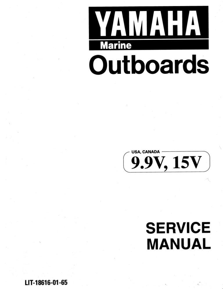 YAMAHA 9.9FEMHR OUTBOARD Service Repair Manual L: 660183-