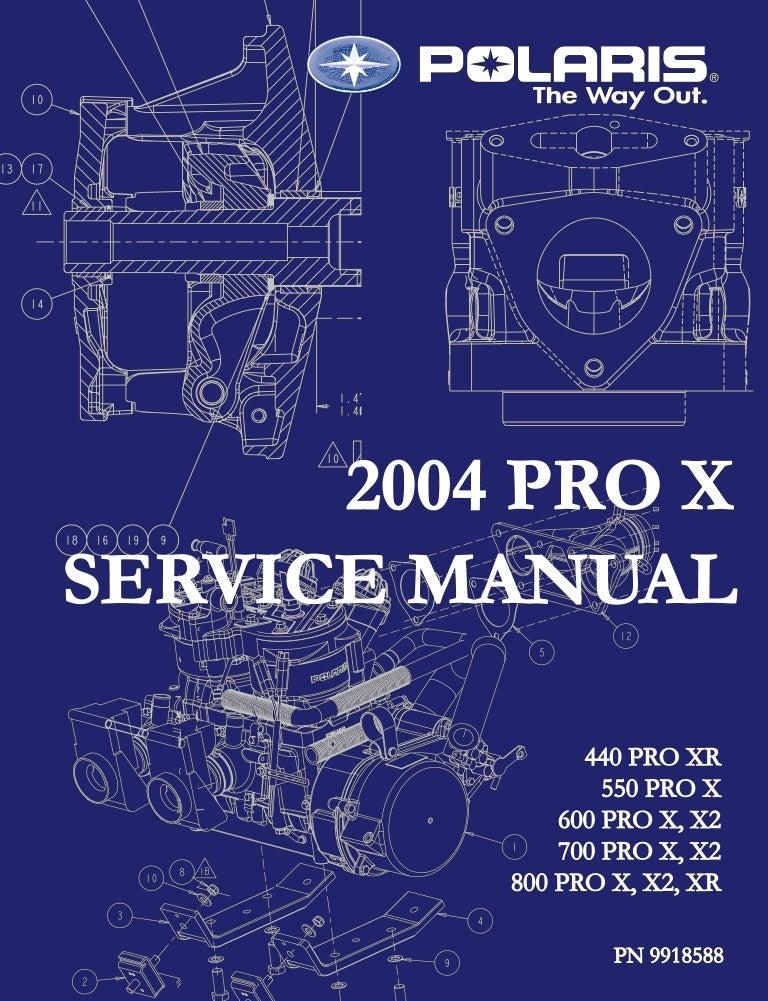 2004 Polaris 440 Pro X Snowmobile Service Repair Manual