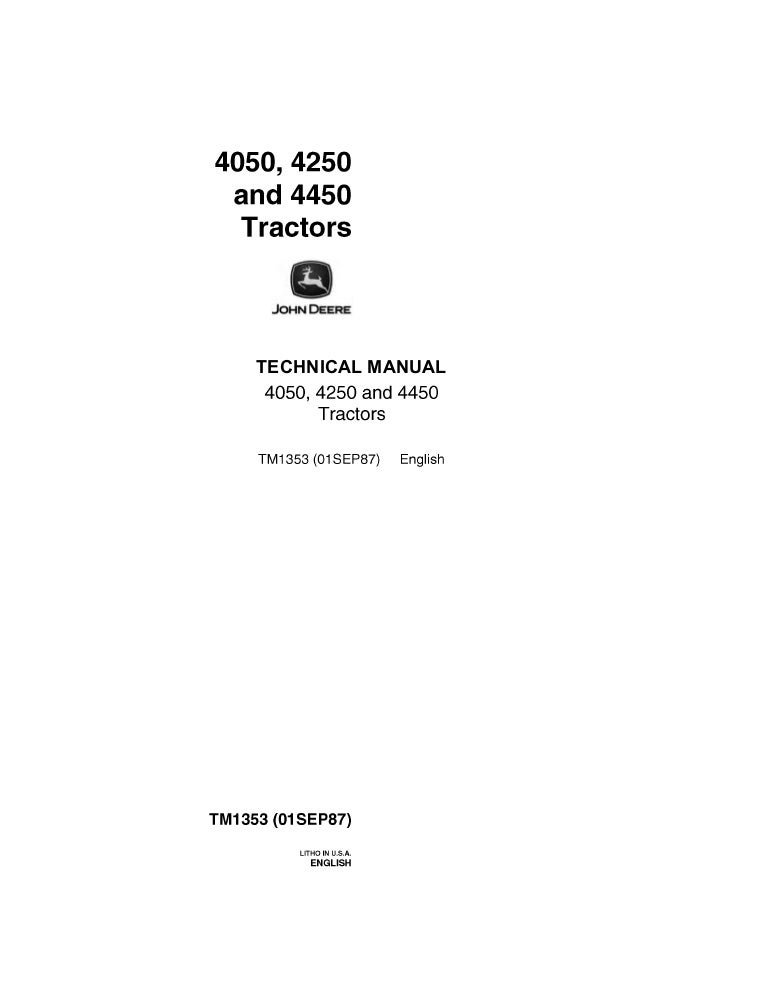 JOHN DEERE 4250 TRACTOR Service Repair ManualSlideShare