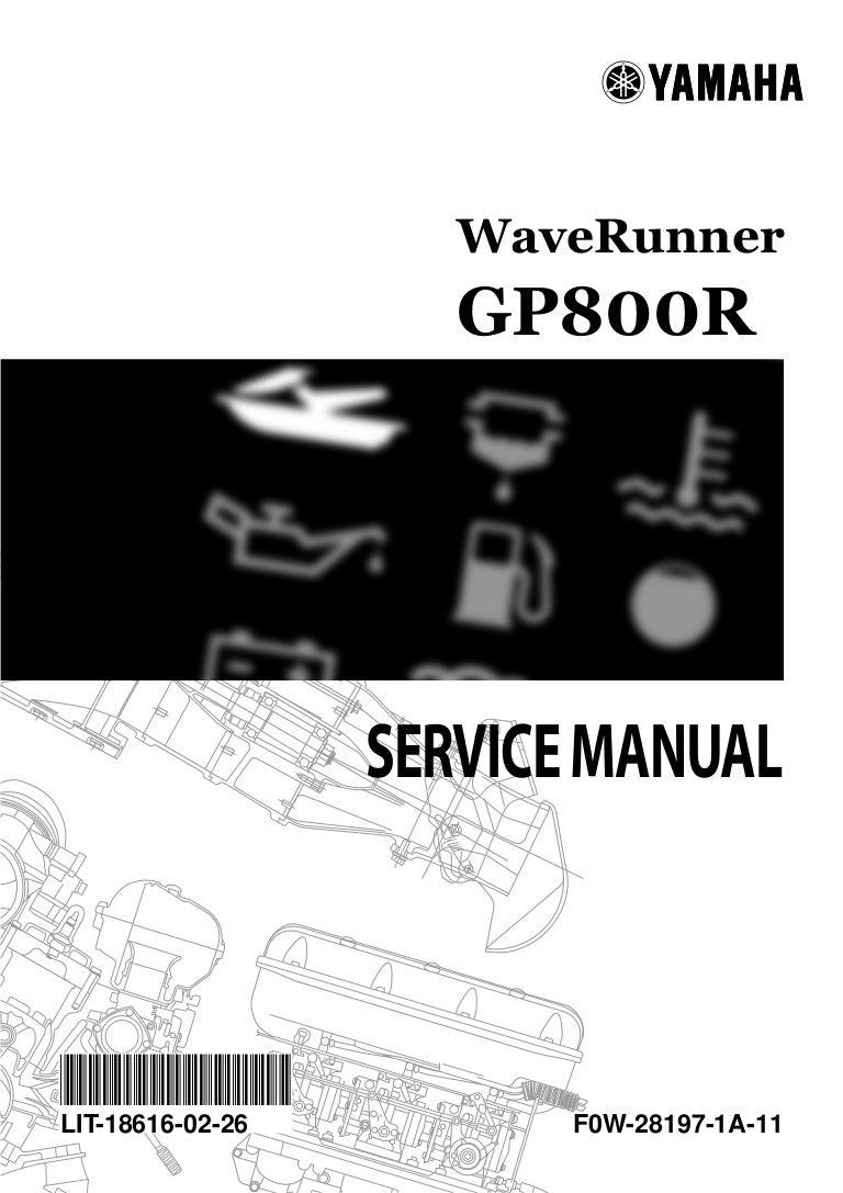 2001 Yamaha Gp800r Waverunner Service Repair Manual