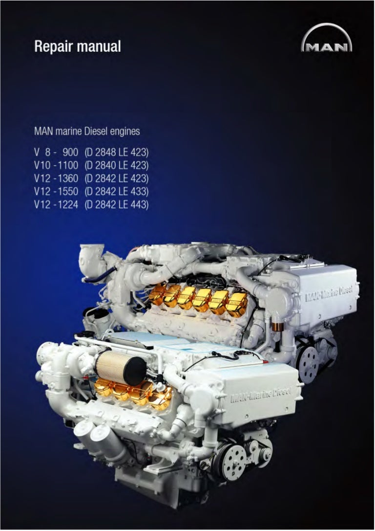 Man Marine Diesel Engine V8 900 D 2848 Le 423 Service Repair Manual Block Diagram