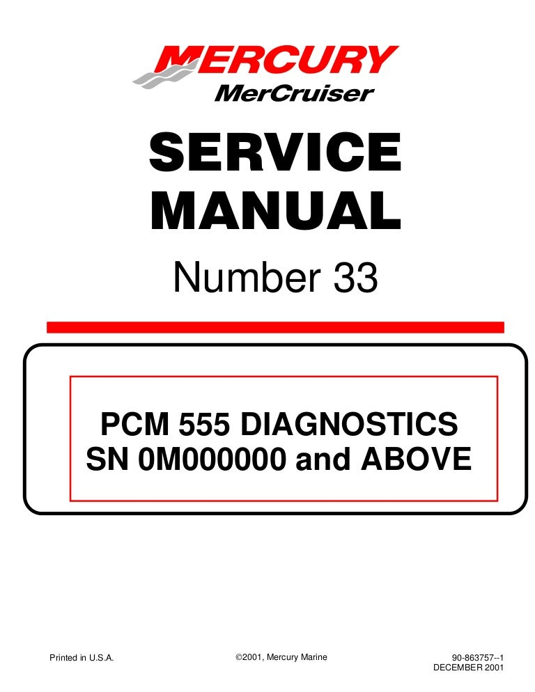 Mercury Mercruiser 496 Mag Ho Diagnostics Service Repair Manual Sn 0m