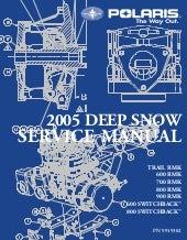 polaris 600 ho 900 switchback snowmobile full service repair manual 2006