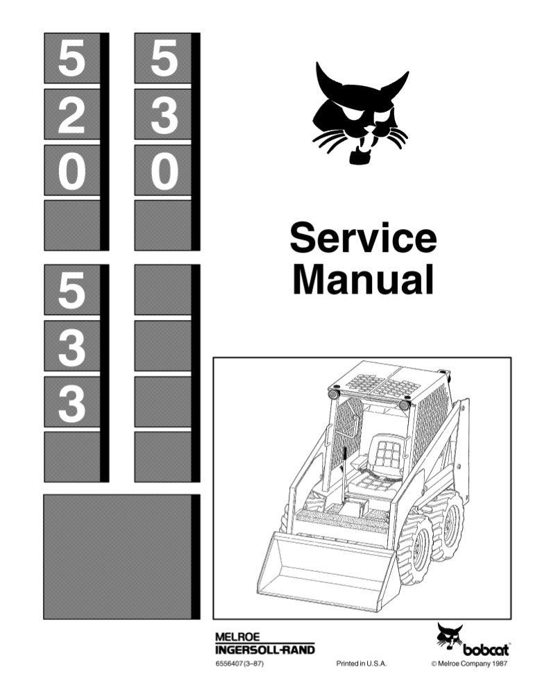 bobcat 530 skid steer loader service repair manual cooper wiring diagram clark 530 wiring diagram #4
