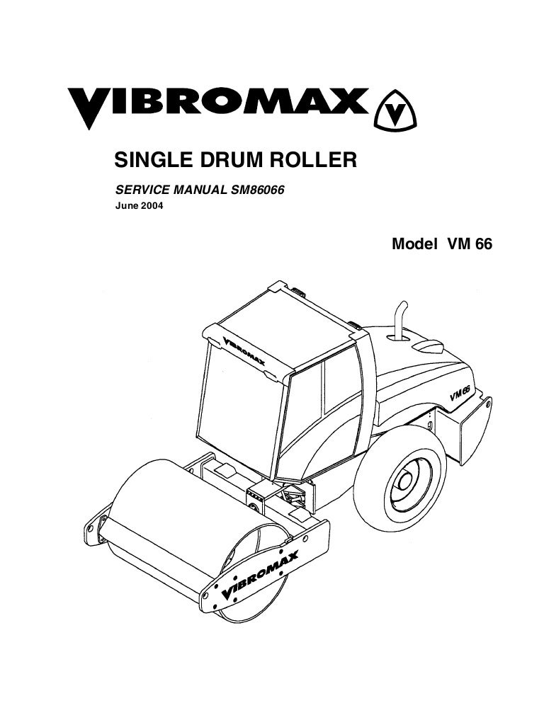 JCB VIBROMAX VM66 SINGLE DRUM ROLLER Service Repair Manual