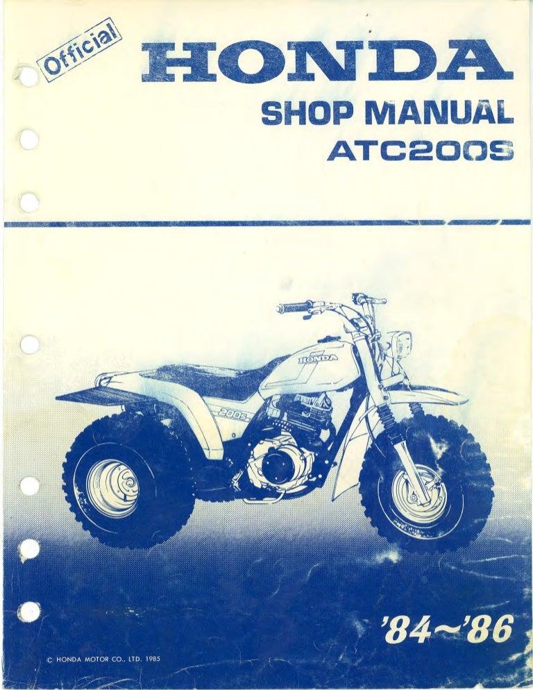 1986 honda atc200s service repair manual rh slideshare net Honda ATC 200s Specifications Honda ATC Collection