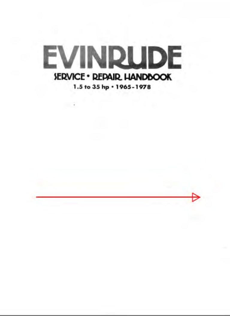 1974 Johnson Evinrude Outboard 25 Hp Service Repair Manual
