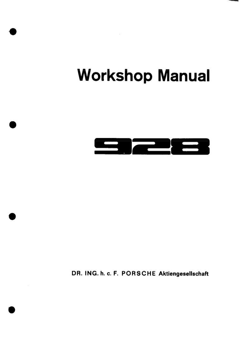 1980 Porsche 928 Service Repair Manual