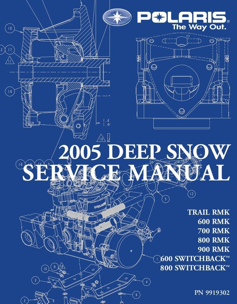 2005 Polaris 800 RMK 151 SNOWMOBILE Service Repair ManualSlideShare