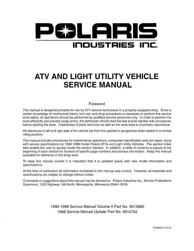 polaris scrambler 400 4x4 wiring diagram 1998 polaris scrambler 400 4x4 service repair manual  1998 polaris scrambler 400 4x4 service