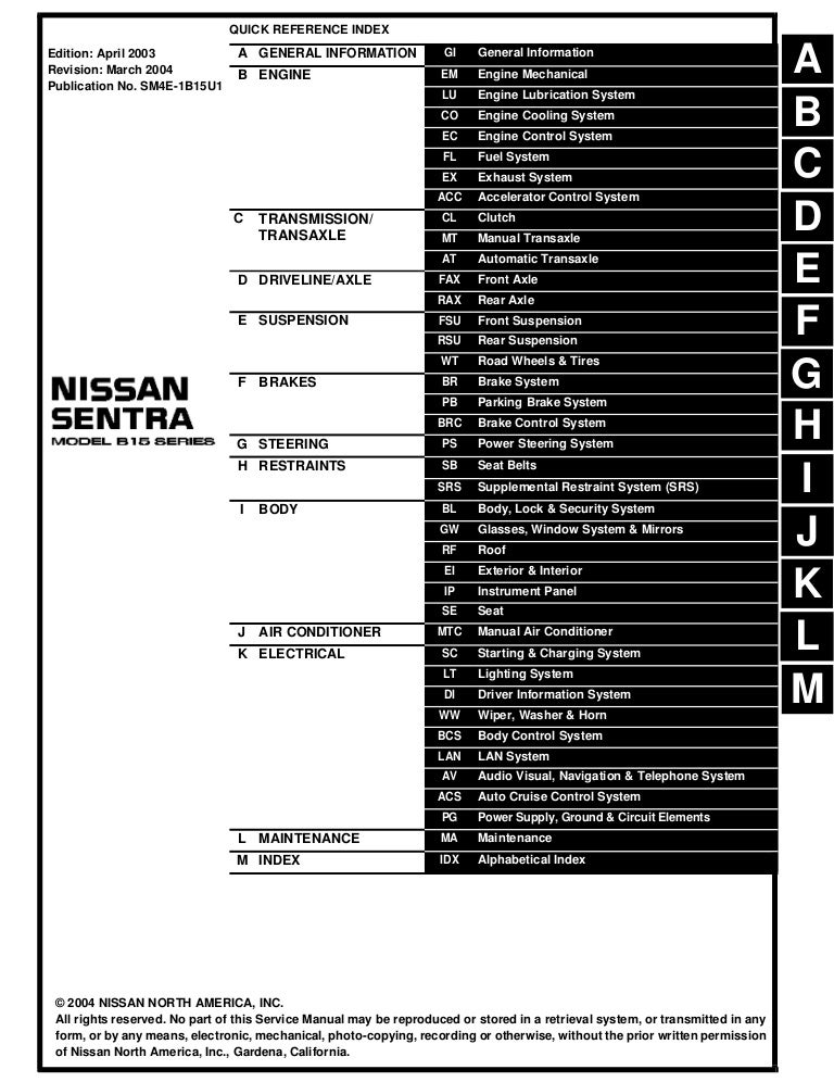 2004 Nissan Sentra Service Repair ManualSlideShare