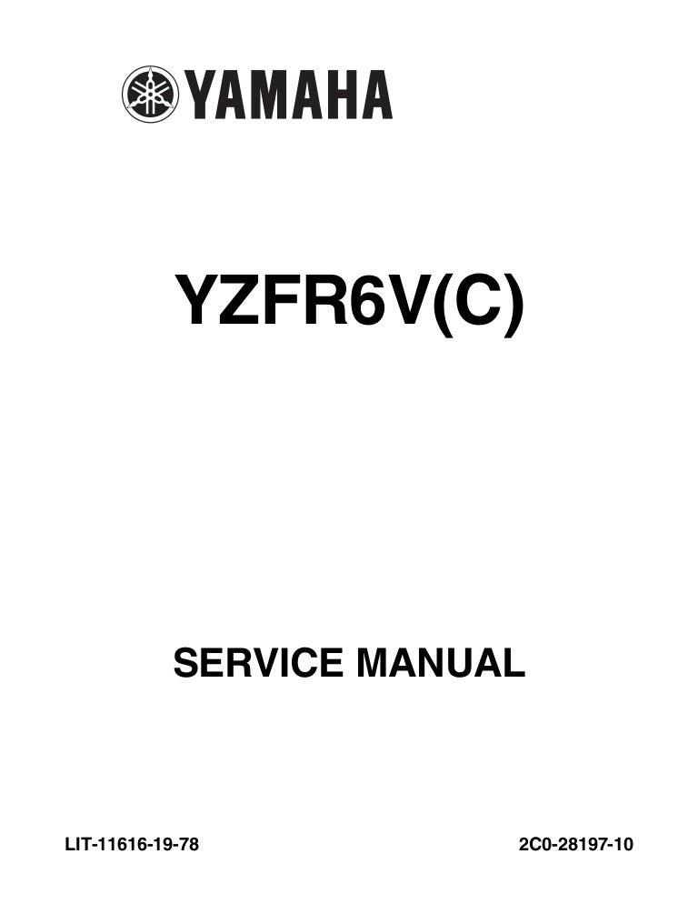 2006 Yamaha YZFR6SPV Service Repair Manual