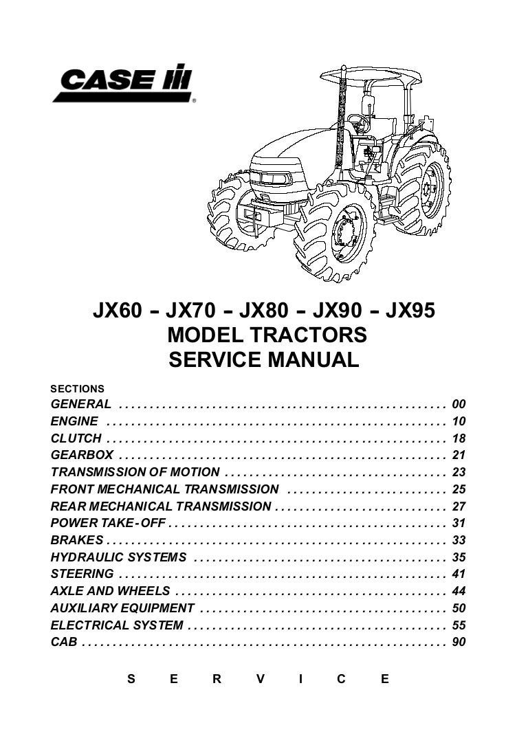 Case Ih Jx95 Tractor Service Repair Manual Hydraulic System Diagram Besides Schematic On