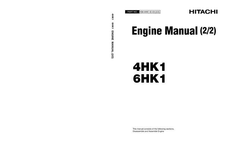 hitachi 6hk1 engine service repair manual rh slideshare net