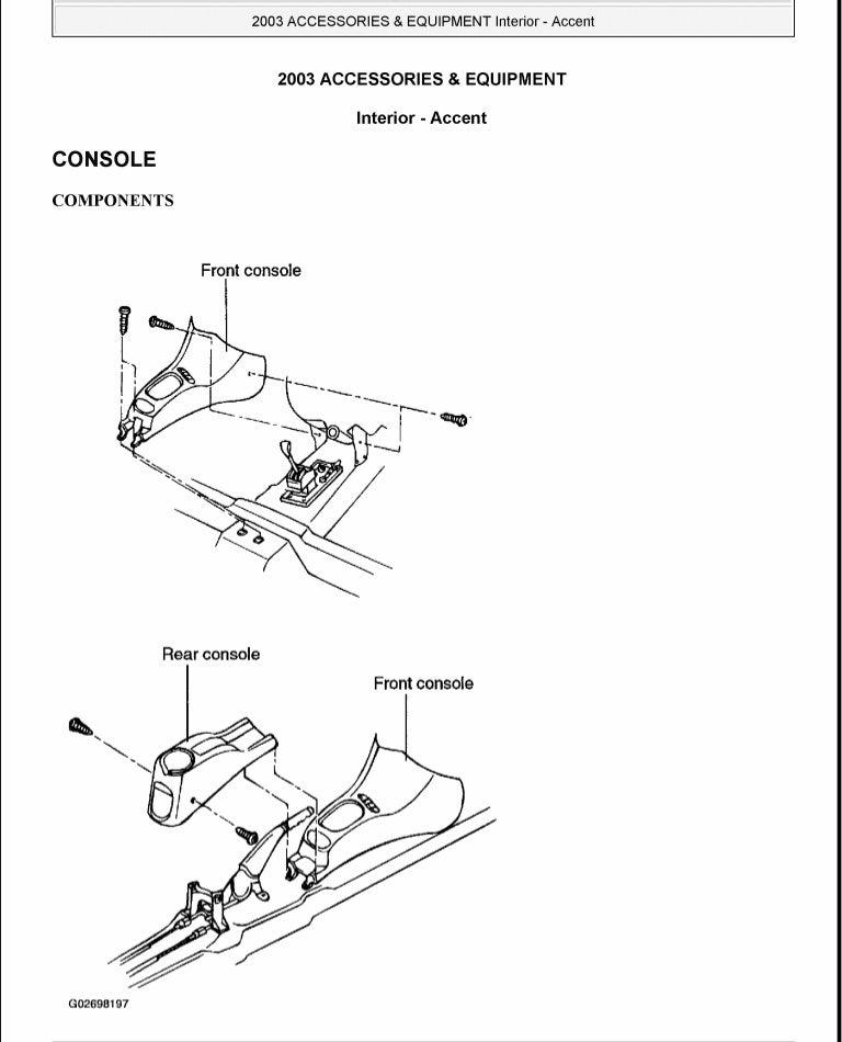 2004 Hyundai Accent Service Repair Manual