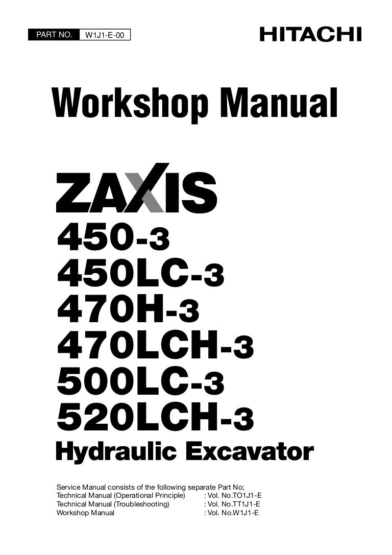 HITACHI ZAXIS 450LC-3 EXCAVATOR Service Repair Manual