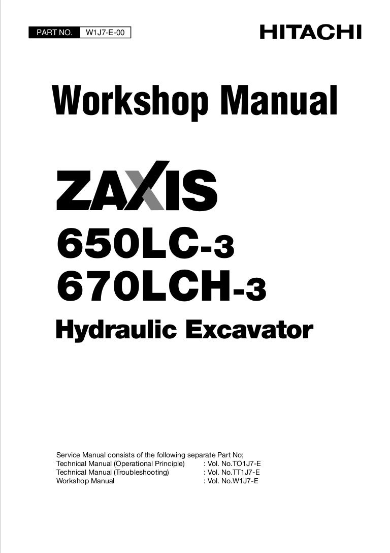 HITACHI ZAXIS 670LCH-3 EXCAVATOR Service Repair Manual