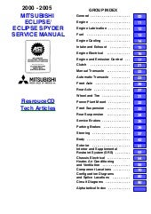 2001 Mitsubishi Eclipse Service Repair Manual
