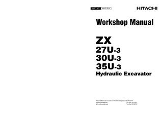 HITACHI ZAXIS ZX 27U-3 class EXCAVATOR Service Repair Manual
