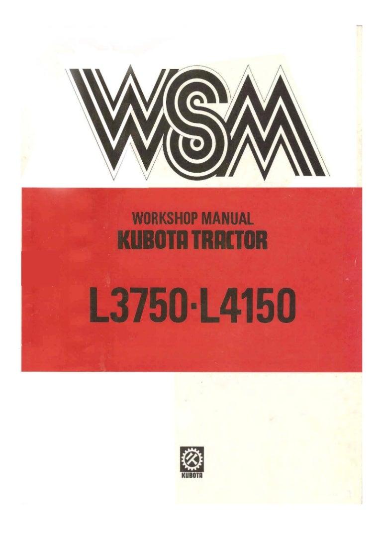 Kubota L3750 Tractor Service Repair Manual