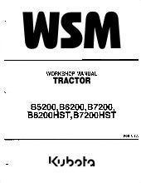 Kubota B6200E Tractor Operators Manual