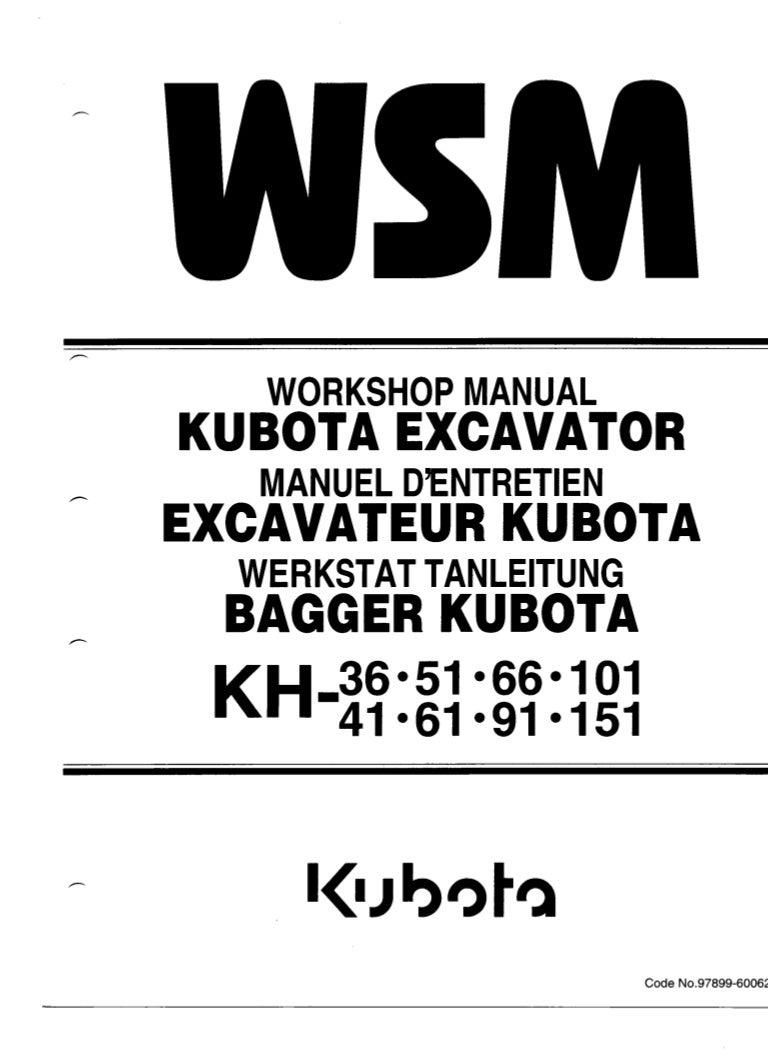 kubota kh66 excavator service repair manual. Black Bedroom Furniture Sets. Home Design Ideas