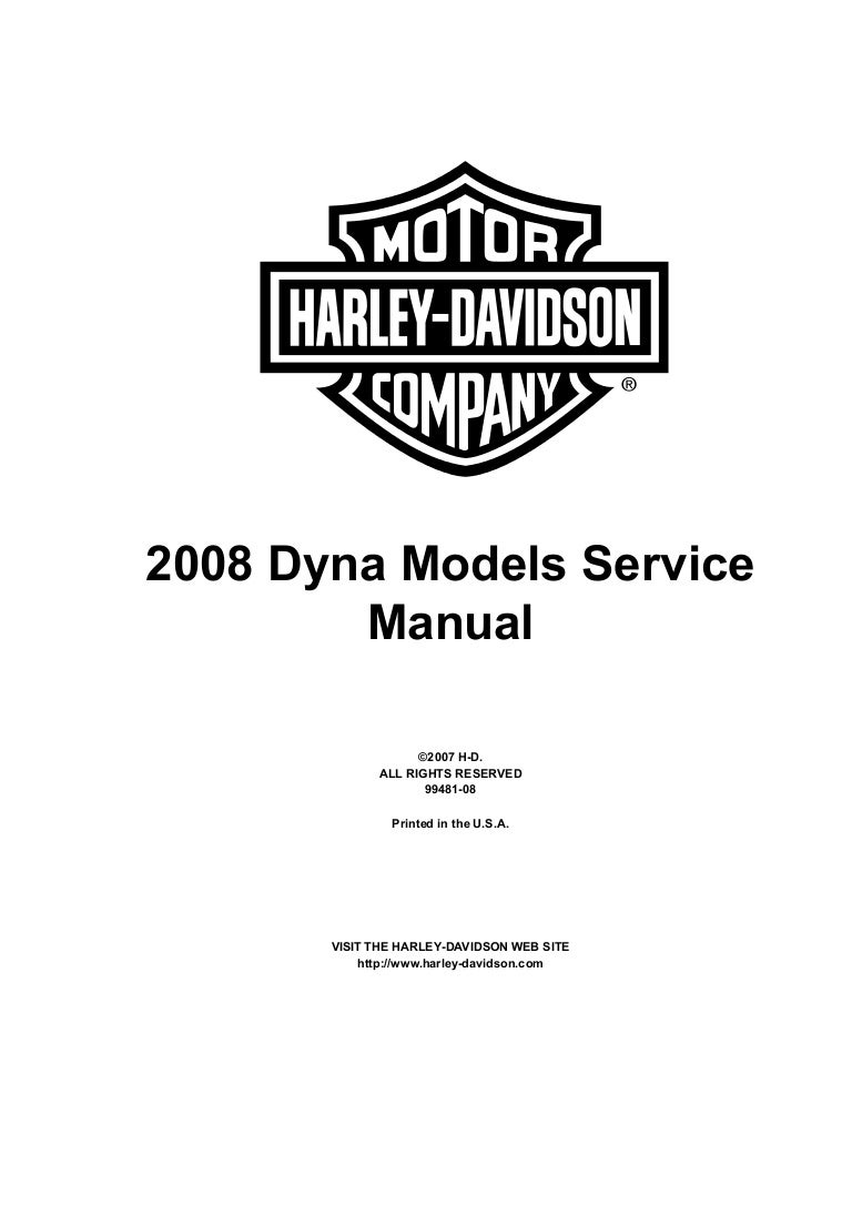 2008 Harley-Davidson FXDL Dyna Low Rider Service Repair Manual