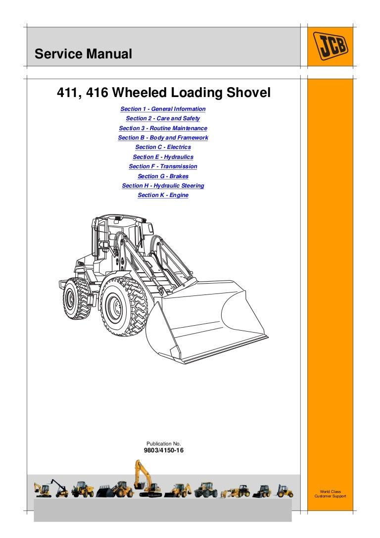 Jcb 411 Wheeled Loader Service Repair Manual Snm1241500 Figure 16 Hydraulic Brake System Schematic Diagram