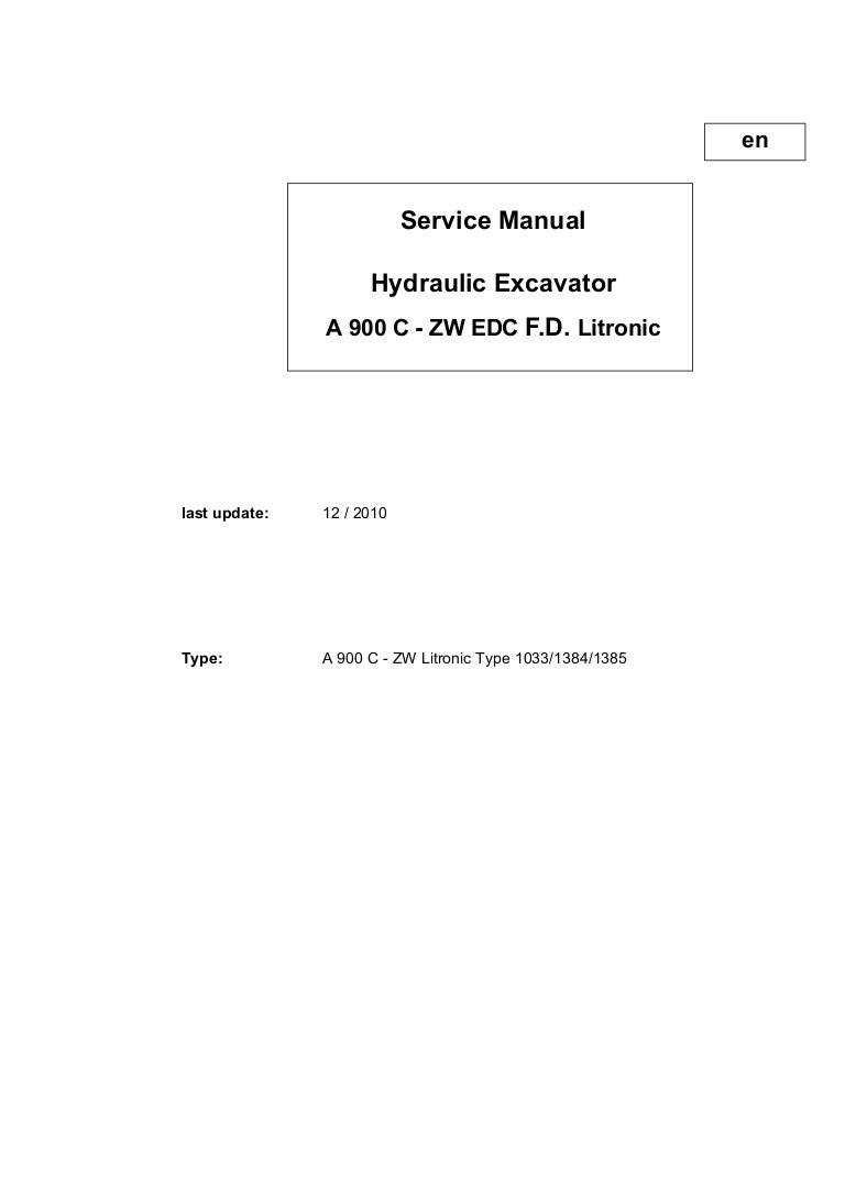 ... manual rh heavymanuals com Array - liebherr a900c zw edc f d litronic  hydraulic excavator service repai u2026 rh slideshare ...
