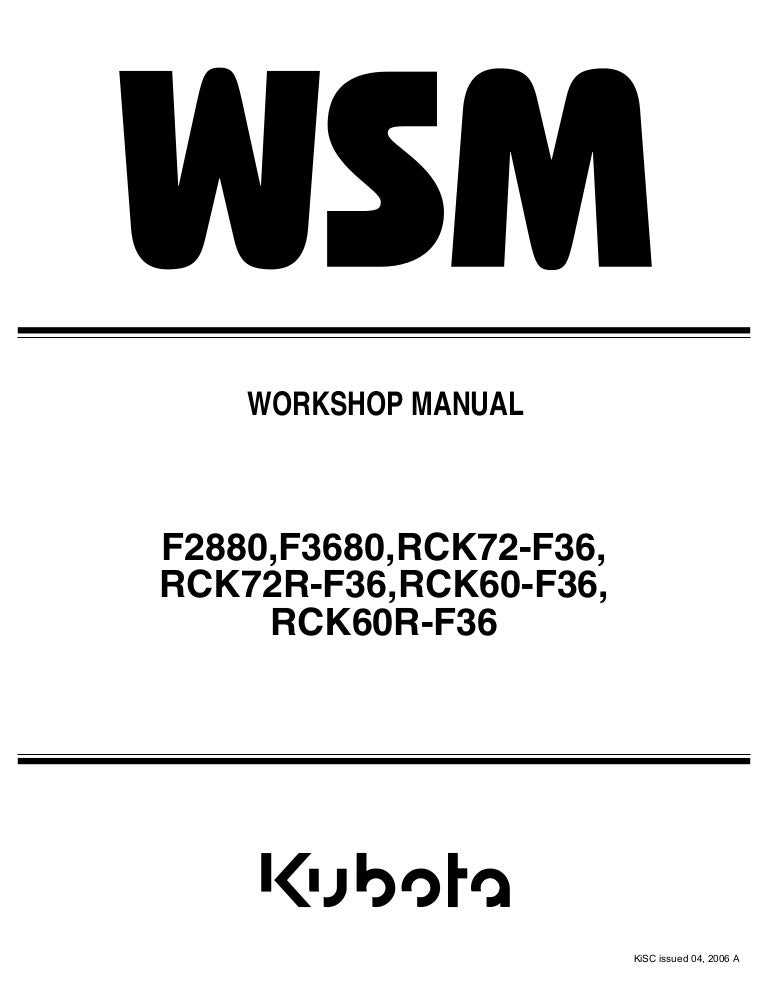 kubota f3680 front cut ride on mower service repair manual f3680 kubota mower kubota f3680 wiring diagram #7