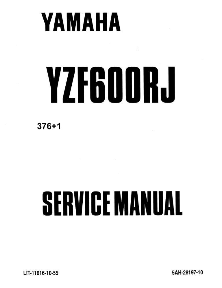2006 Yamaha YZF600RV Service Repair Manual