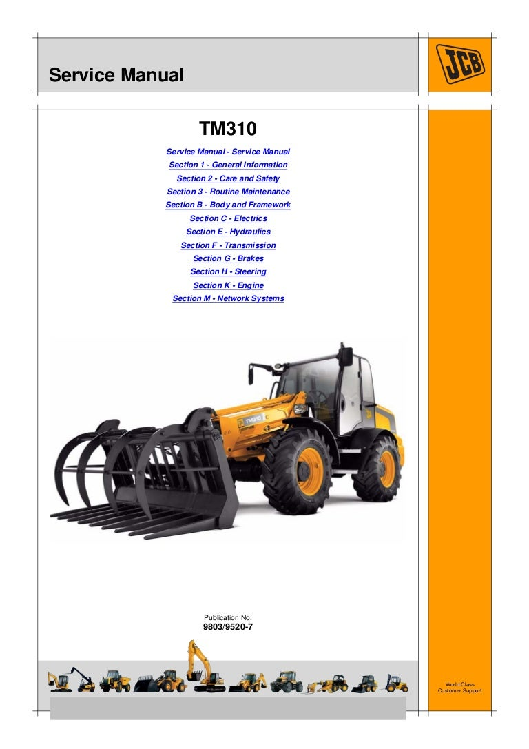 JCB TM310 TELESCOPIC WHEELED LOADER Service Repair Manual on