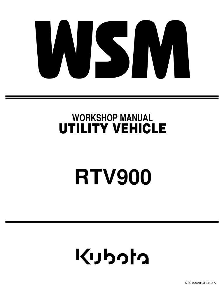 Kubota Rtv900 Utility Vehicle Utv Service Repair Manualrhslideshare: Wiring Diagrams Kubota Utility Vehicles At Gmaili.net