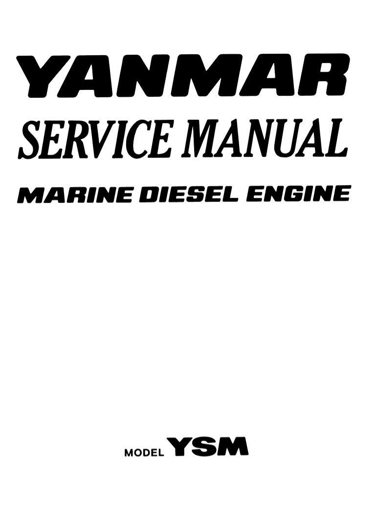 Yanmar YSM8-R Marine Diesel Engine Service Repair Manual