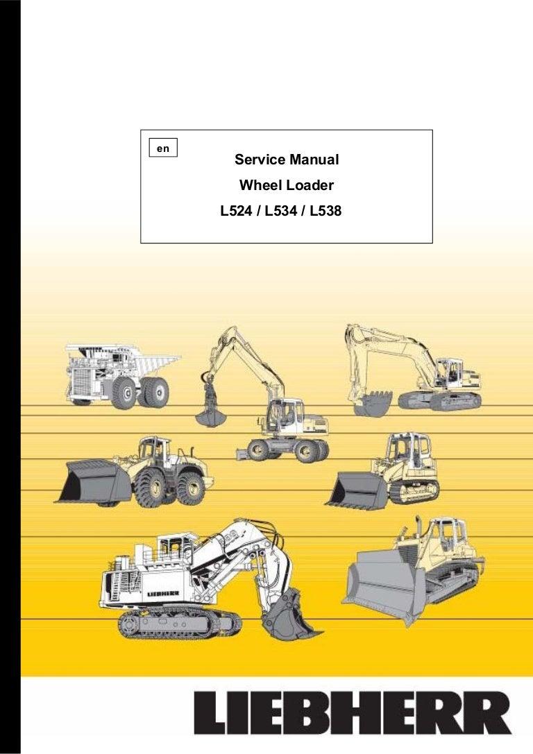 Liebherr L538 432 Wheel Loader Service Repair Manual Sn0101 24 Volt 8030 Alternator Wiring Diagram