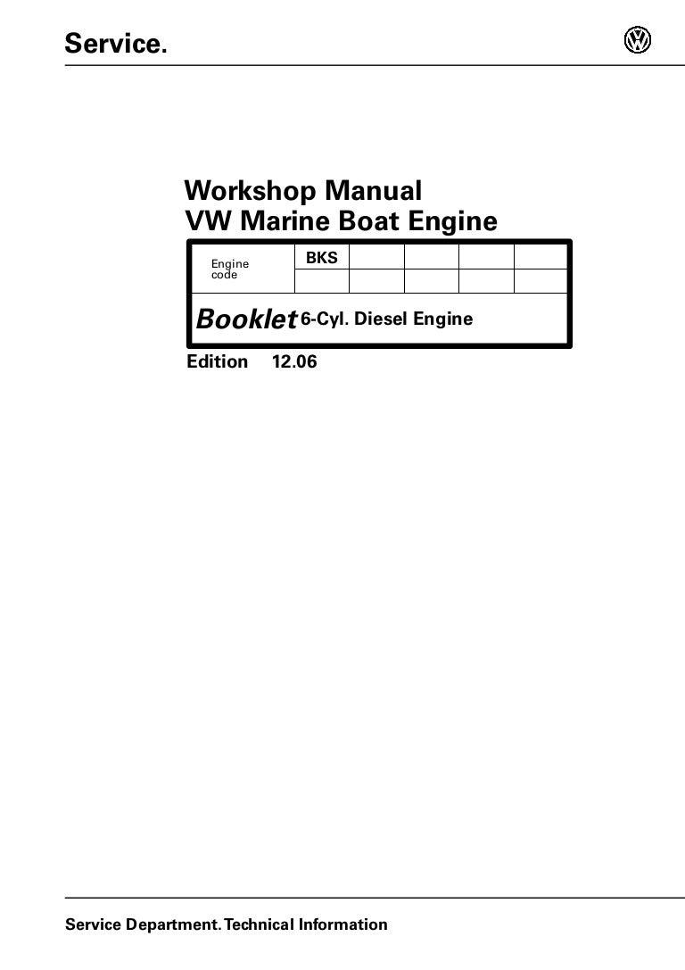 Volkswagen Tdi 30l 225 6 Diesel Marine Engine Service Repair Manual 10 Pin Mercruiser Wiring Harness