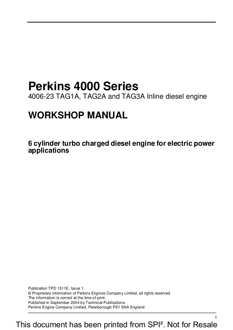 ... Array - perkins 4000 series 4006 23 tag3a inline diesel engine service  repair u2026 rh slideshare ...