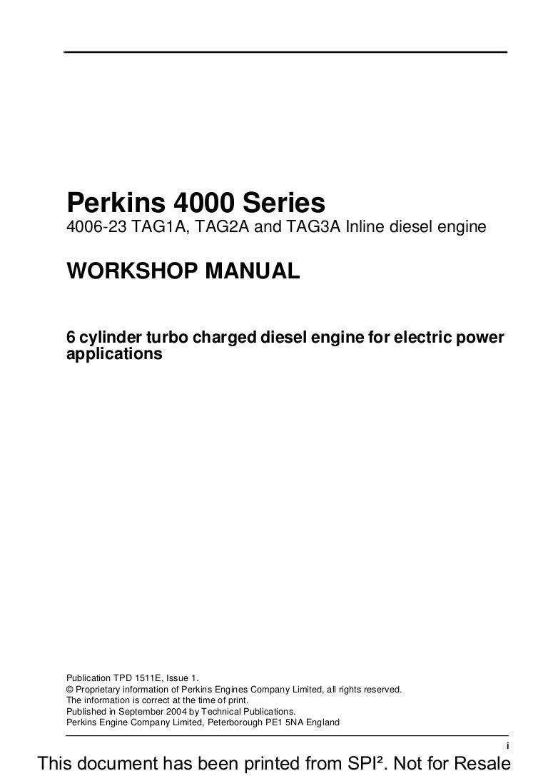 ... Array - perkins 4000 series 4006 23 tag3a inline diesel engine service  repair u2026 rh slideshare ...