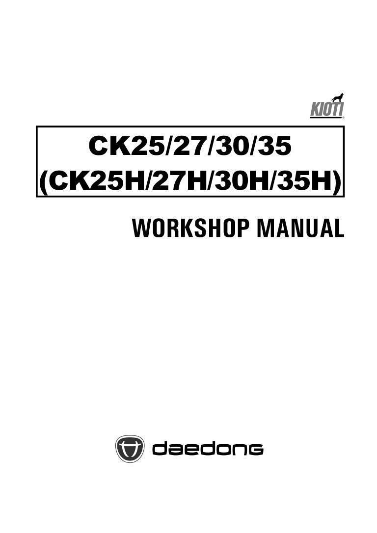 Kioti Daedong CK25 Tractor Service Repair Manual