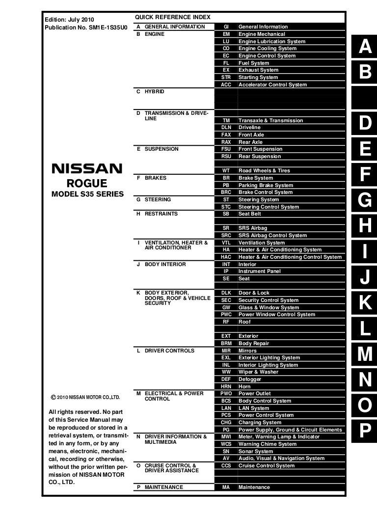 2014 Nissan Rogue Power Window Wiring Diagram