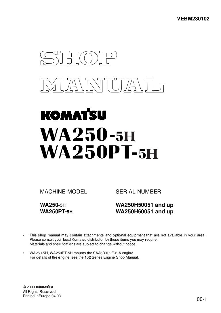 Wa250 Komatsu Wiring Diagram | Wiring Library