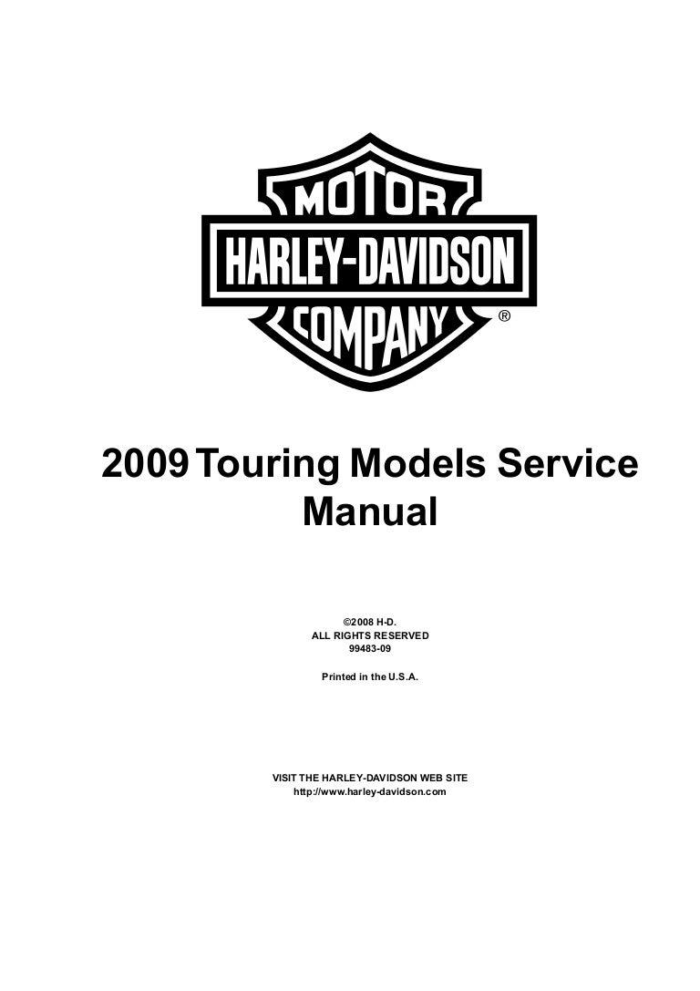 2009 Harley-Davidson FLHT Electra Glide (Touring) Service